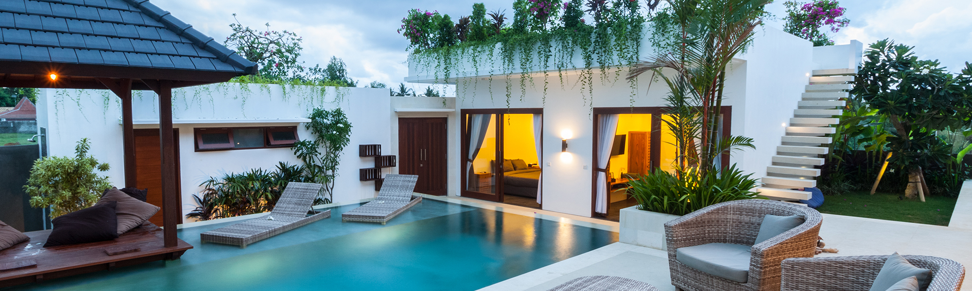 Outdoor Lighting by Pool